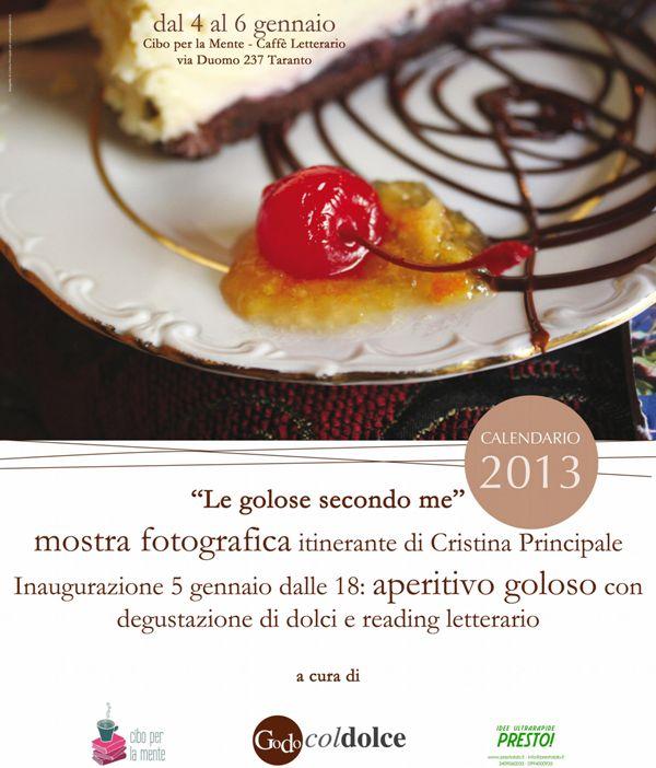 """locandina """"Le golose secondo me"""" 2013_Cristina Principale x godocoldolce.it"""