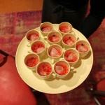 Acqua di lavanda gelificata e tartare di anguria e ravanelli e sedano rapa_fotografia Cristina Principale