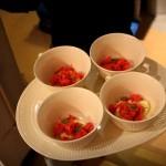 Catalana al tè matcha con granita di fragole e menta acquatica_fotografie Cristina Principale