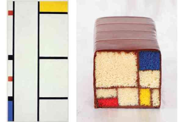 Omaggio a Piet Mondrian, la torta di Caitlin Freeman