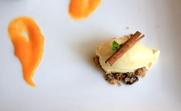 Ovetto di gelato alla cannella; variante dello Chef Drudi_fotografie Cristina Principale