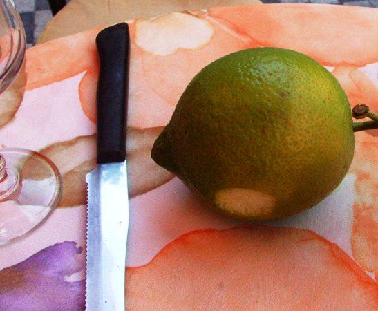 Sorbetto al limone.