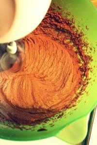 Ciambellone leggero al cacao in preparazione_fotografia Cristina Principale